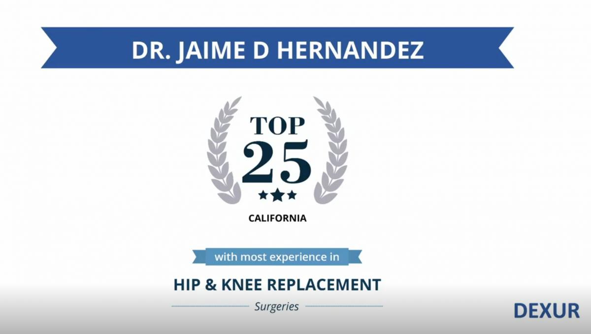 Jaime D  Hernandez, MD | Southern California Orthopedic