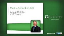Dr. Mark Schamblin – Rotator Cuff Tear