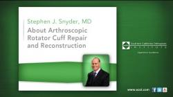 About Arthroscopic Rotator Cuff Repair and Reconstruction