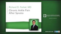 Chronic Ankle Pain After Sprains