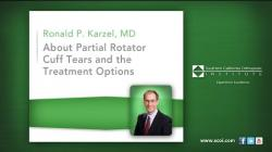About Partial Rotator Cuff Tears and the Treatment Options