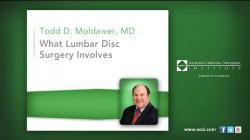 What Lumbar Disc Surgery Involves
