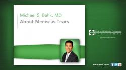 About Meniscus Tears