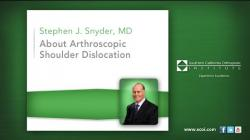 About Arthroscopic Shoulder Dislocation